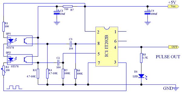 ·it202b为脉冲调制解调专用芯片